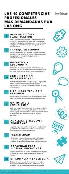 Las 10 competencias profesionales más demandadas por las ONG - blog voluntariado - hacesfalta.org