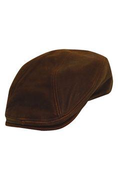 41005d7d42b Stetson Leather Driving Cap
