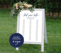Editable PDF Seating Chart Find Your Table Calligraphic Wedding Seating Chart Template DIY Seating Board Table Printable Navy blue #DP120_58 by DreamPrintable on Etsy  #wedding #instant #download #printable #image #graphic #digital #reception_sign #PDF #Calligraphy #Sign #events #wedding_printable #wedding_design #Template #wedding_ceremony #wedding_sign #events_design