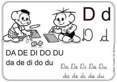 Alfabetos Ideia Criativa: Silabário Turma da Mônica pra Colorir
