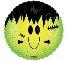 "Amazon.com: Smiley Face Frankenstein Halloween 18"" Balloon Mylar: Health & Personal Care"