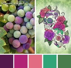 Bring a fresh and summery look to your projects with this Summer Vineyard color inspiration.