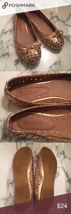 ⭐️Copper Flats Vegan size 9 (Eur 39) Worn once, a gift I'm looking to part ways with! Your gain! 🌟 Bakers Shoes Flats & Loafers