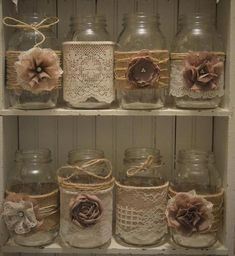 12 Mason Jar Wedding Centerpieces, Rustic Wedding, Burlap Mason Jar Sleeves, Jar Not Included, Bridal Shower Decorations Pot Mason Diy, Burlap Mason Jars, Mason Jar Crafts, Bottle Crafts, Wedding Centerpieces Mason Jars, Flower Centerpieces, Burlap Centerpieces, Navidad Simple, Burlap Crafts
