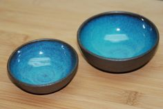 Ceramic Nesting Bowls  Teal Bowls Handmade on by SoulVesselDesigns, $16.00