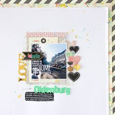 #papercraft #scrapbook #layout    Janna Werner layout for Crate Paper