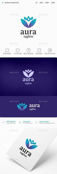 Aura Logo Design Template Vector #logotype Download it here: http://graphicriver.net/item/aura/11933979?s_rank=815?ref=nexion