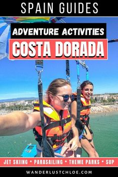 From parasailing over the Salou coastline, to screaming your way around some of the world's biggest rollercoasters, and paddle boarding to mysterious caves, these excursions on the Costa Dorada are guaranteed to give you your adventure fix!  #costadorada #spain #catalonia #catalunya #salou #beach #cambrils #tarragona #traveltips #adventuretravel #travelphotography #amazingdestinations #travelinspiration #travelreview #adventuregirl #gopro #parasailing #paddleboarding