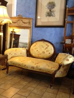Mariposa Gold on Lounge chair from John Richards Antiques