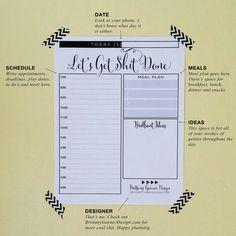 Planner list! Get shit done!!!! #etsy #BGD #BrittanyGarnerDesign