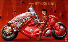 """The much awaited adaptation of live-action classic Japanese anime """"Akira"""" is finally getting up and running for a kick start by Warner Bros. Futuristic Motorcycle, Motorcycle Art, Bd Comics, Anime Comics, Akira Kaneda, Thor, Akira Anime, Miyagi, Spiderman"""