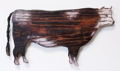 Wood Cow Silhouette Wall Piece Pallet Art, Painted Signs, Country Kitchen, Cows, Wood Burning, Wood Crafts, Silhouettes, Bbq, Moose Art