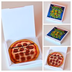 Teenage Mutant Ninja Turtles Inspired Pizza Box Invitation
