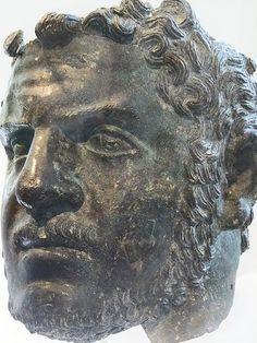 Fragmentary Bronze portrait of the emperor Caracalla Roman Severan 212-217 CE