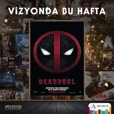 Alışıldık süper kahramanlara hiç benzemeyen Deadpool'un macerası bu hafta Vizyonda! #arcadiumsinema #deadpool