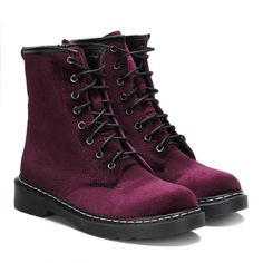 Yoins Burgundy Velvet Lace-up Design Short Boots (€51) ❤ liked on Polyvore featuring shoes, boots, ankle booties, yoins, burgundy, lace up booties, velvet ankle boots, velvet boots, burgundy bootie and burgundy lace up boots