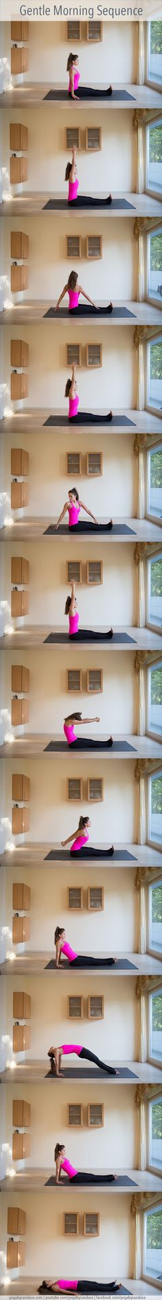 Pin it! A gentle morning yoga sequence you can do from home.