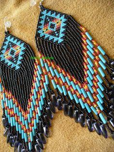 Native American inspired earrings, Roxanne Bird design on Wanelo