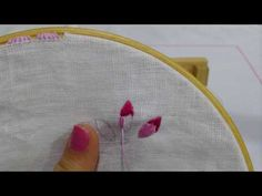 Satin point or point-painting - Hand Embroidery Tutorial Hand Embroidery Tutorial, Coin Purse, Painting, Youtube, Satin, Deco, Videos, Flowers, Fantasy