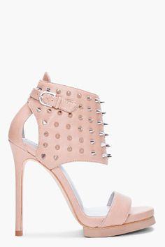 CAMILLA SKOVGAARD //  Taupe Studded HARNESS Heels