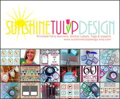 An awesome Etsy store to shop all things DIY and printable for any life celebration!  Shop in store, download, print, cut and your done!  So easy!  Add ribbon, twine or tulle embellishments if you like!  Specialty items such as milestone birthdays, teacher appreciation, Christmas and more!  Hop on over to the store and enjoy!  www.sunshinetulipdesign.etsy.com
