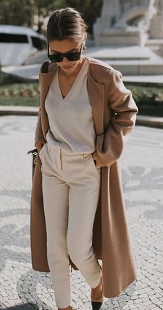Beige Outfit – Trend Alert – Coat of arms Casual Outfits For Work, Summer Work Outfits, Office Outfits, Stylish Outfits, Spring Outfits, Office Wear, Office Attire, Casual Office, Teen Outfits