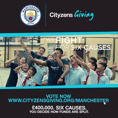 Not long to vote! £400,000. Six Cities. Six Causes. You decide how they are funded.