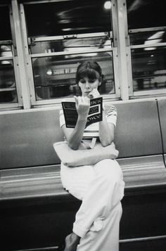 View Untitled, NYC by Louis Faurer on artnet. Browse more artworks Louis Faurer from Howard Greenberg Gallery. People Reading, Woman Reading, Book People, People People, I Love Books, Books To Read, Reading Books, Reading Art, Louis Faurer
