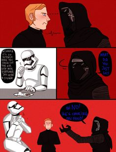 Sarcasm can be dangerous in the Starkiller cafeteria