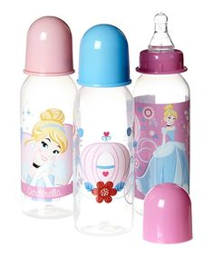 Disney Baby Disney Princess Cinderella Bottle - Set of Three Disney Princess Babies, Disney Babys, Baby Disney, Toddler Bottles, Baby Bottles, Baby Doll Accessories, Disney Nursery, Reborn Babies, Baby Feeding