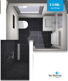 Ontwerp Van Wanrooij kleine #badkamer | Bath Rooms | Pinterest ...