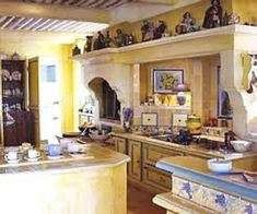 <b>french</b> <b>country</b> kitchen <b>yellow</b> <b>blue</b>