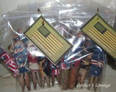 Primitive Americana Grubby Clothes Pins Bowl Fillers