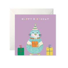 Walrus Birthday Card by Helen Magee Hairy Fruit Art Fruit Art, Card Stock, Birthday Cards, Greeting Cards, Messages, Christmas Ornaments, Holiday Decor, Illustration, Prints