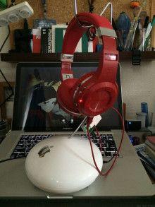 旧型AirMacExtreme筐体のヘッドホンスタンド(USBハブ機能付き)