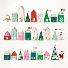 Create a mini advent calendar for Christmas.