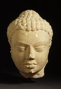 head of buddha 475 uttar pradesh gupta