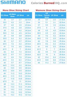 d1dc06a92 shimano shoe sizing chart for men and women Road Cycling Shoes