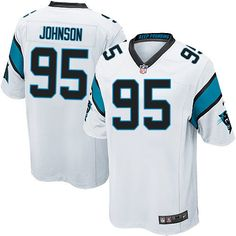 414eebab3 Nike Limited Charles Johnson White Youth Jersey - Carolina Panthers  95 NFL  Road Greg Olsen