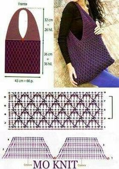 Crochet Diy, Crochet Video, Bag Crochet, Crochet Market Bag, Crochet Clutch, Crochet Diagram, Crochet Handbags, Crochet Purses, Crochet Clothes