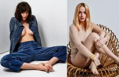 Dakota Johnson is not afraid to show some skin! The beautiful actress went braless under a denim jacket for a sexy snap, and then changed up her look dramatically but shooting another photo with blond hair.