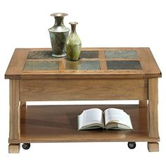 Progressive Furniture Rustic Ridge Cocktail Table Light OakSlate ** Read more reviews of the product by visiting the link on the image.Note:It is affiliate link to Amazon. #tagblender