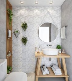 83 home interior design ideas for small spaces that feel spacious 19 Bathroom Interior Design, Decor Interior Design, Interior Decorating, Interior Designing, Interior Ideas, Interior Lighting, Mid Century Modern Bathroom, Picture Shelves, Trendy Home