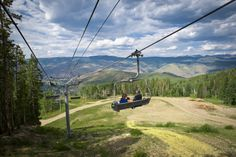 On the Ski Lift looking down on Beaver Creek, CO