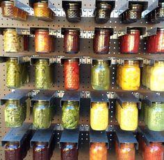 Mason Jar Organizer | Food Storage Ideas for Small Homes
