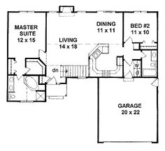 Floor Plans AFLFPW19131 - 1 Story Traditional Home with 2 Bedrooms, 2 Bathrooms and 1,218 total Square Feet