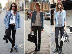 """Gente eu adoro jaqueta jeans,eu não tenho muitas,mas uso todas,e o pior que elas combinam com tudo.Eu peguei algumas dicas no site """"E aí beleza"""",adorei a matéria💕"""