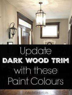 Best Paint Colors With Dark Wood Trim Neutral Walls Ideas Stained Wood Trim, Dark Wood Trim, Dark Wood Floors, Wooden Trim, Kitchen Paint Colors, Paint Colors For Living Room, Room Colors, Wall Colors, House Colors