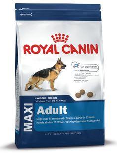 Royal Canin 35237 Maxi Adult 15 kg - Hundefutter Royal Canin http://www.amazon.de/dp/B0014TE6FG/?m=AMWB9IWQTFGZU