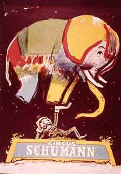 Circus Schumann Elephant Fine Art Giclee Print